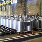 QUEIMADORES DEEP START Peso: 5.38 kg/un Dimensões: 1500 x 2000 mm Normas: ASME VIII Div. I/ ASME IX/ ASME B.31.3 Material: A-36 Ano de Fabricação: 2011