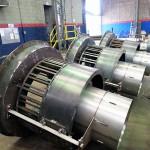QUEIMADORES DELTA POWER Peso: 700 kg Dimensões: ø1600 x 2000 mm Normas: ASME VIII Div. I/ ASME IX Material: A-36 Ano de Fabricação: 2013