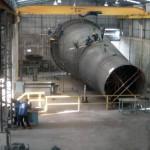 CHAMINÉ Peso: 40 ton Dimensões: ø 3652/ ø 7185 mm X 18357 mm Normas: N-0268/ ASME VIII Div. I/ ASME IX Material: A-285 Gr. C Ano de Fabricação: 2008