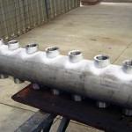 """DISTRIBUIDOR PARA REATOR Peso: 150 kg Dimensões: ø 6"""" X 2198 mm Normas: N-133 Material: A-516 GR 70 / INOX 304 Ano de Fabricação: 2006"""