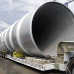 DUTO DE FORNO Peso: 20 ton Dimensões: ø 3430 mm X 33400 mm Normas: ASME VIII Div. I/ ASME IX Material: A-36 Ano de Fabricação: 2008
