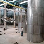 CAMISA DE CONVENCÇÃO Peso: 1,25 ton Dimensões: ø 2743 mm x 6020 mm Normas: ASME VIII Div. I/ ASME IX Material: Inox 310 Ano de Fabricação: 2007/ 2010