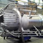 """FLARE TIP 42"""" Peso: 2 ton Dimensões: ø 1220 mm X 3048 mm Normas: ASME VIII Div. I/ ASME IX Material: Inox 310/ 304 Ano de Fabricação: 2012"""