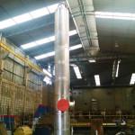 Peso:950 kg Dimensões:ø 560 mm x 6.000 mm Normas:N-0268 / ASME VIII / NR-13 Material:Aço inox SX / 316 L Ano de Fabricação: 2015