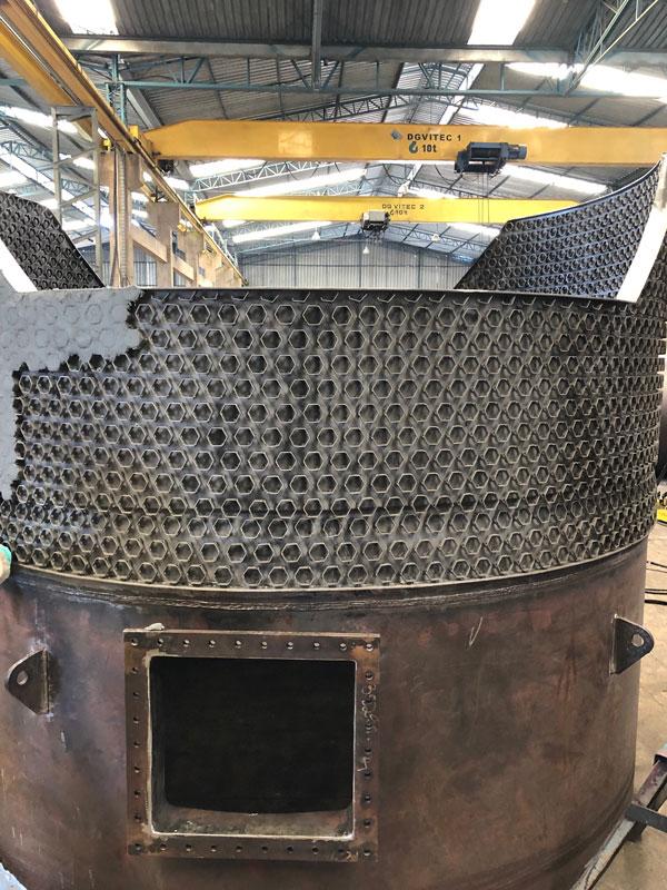 Grelha para regenerador do conversor D-601 A387 GR22 UFCC (Petrobras/RLAM)