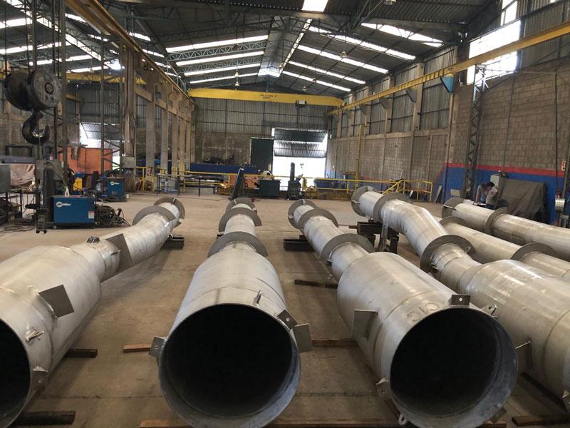 Pernas dos ciclones primários do regenerador UFCC (Petrobras/Repar)