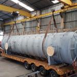 Peso:30 ton Dimensões:ø 3.100 X 15.000 mm Normas: N-268/ ASME VIII Div. I / ASME IX / N-133 Material:ASTM A516 GR 70 Ano de Fabricação: 2017